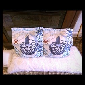 Two Ocean Beach Theme Throw Pillows